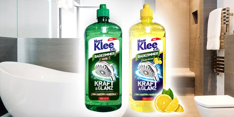 Octowe płyny do czyszczenia łazienki Herr Klee