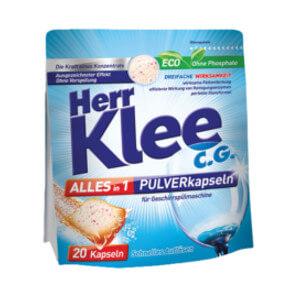 Kapseln für Geschirrspülmaschinen Herr Klee C.G.