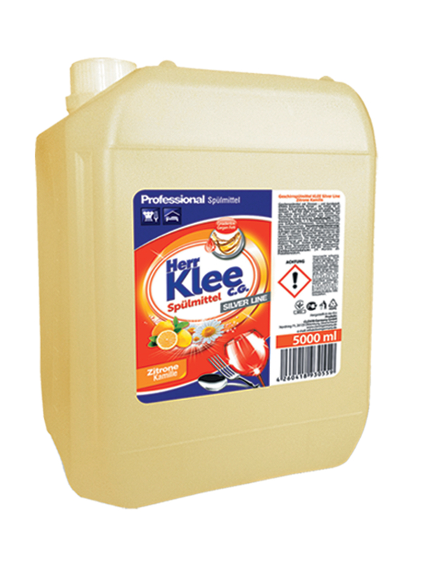 Dishwashing liquid Herr Klee C.G. Silver Line Lemon and Chamomile 5 l