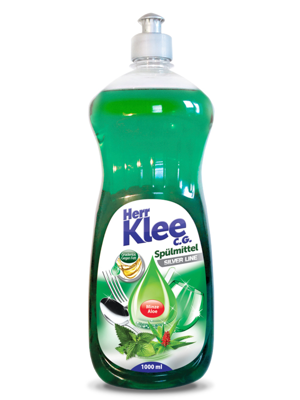 Dishwashing liquid Herr Klee C.G. Silver Line Mint and Aloe Vera