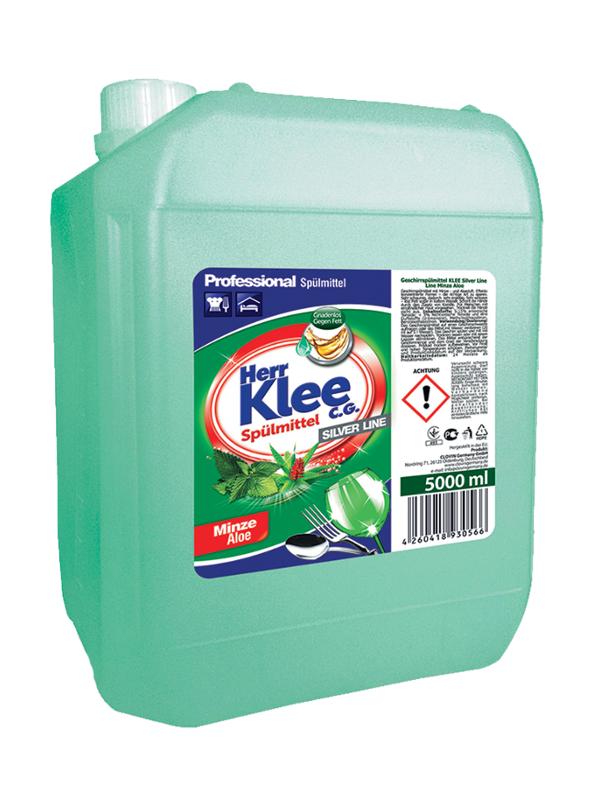 Spülmittel Herr Klee C.G. Silver Line Minze und Aloe 5 l