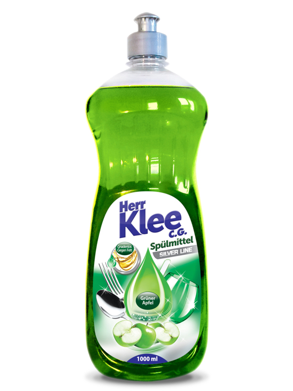Dishwashing liquid Herr Klee C.G. Silver Line Green Apple 1 l