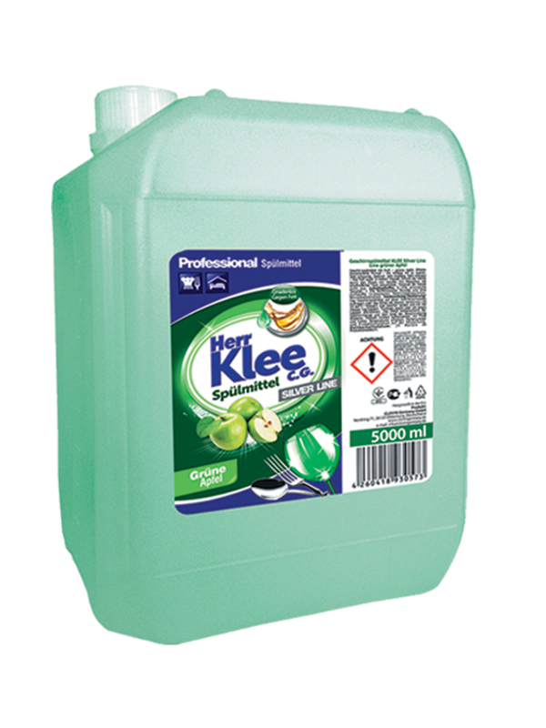 Dishwashing liquid Herr Klee C.G. Silver Line Green Apple 5 l