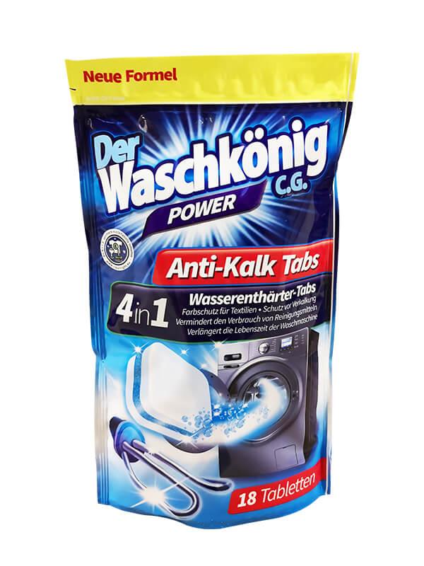 Tabs zur Reinigung und Entkalkung der Waschmaschine Der Waschkönig C.G.