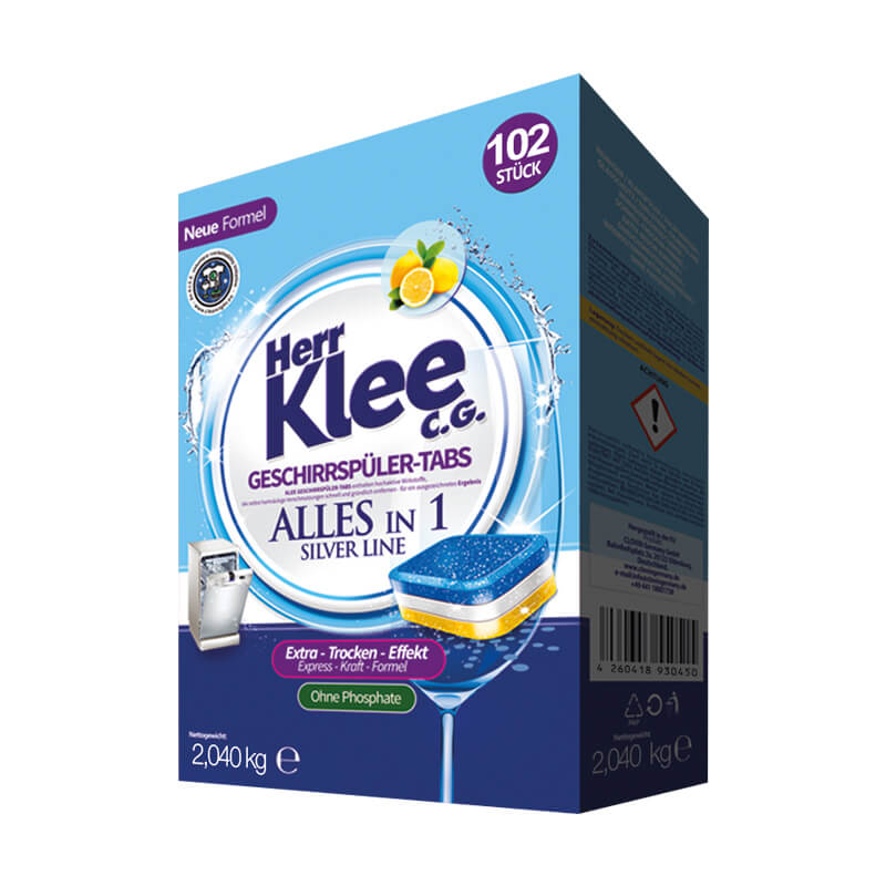 Dishwasher tablets Herr Klee C.G. Silver Line 102 pieces
