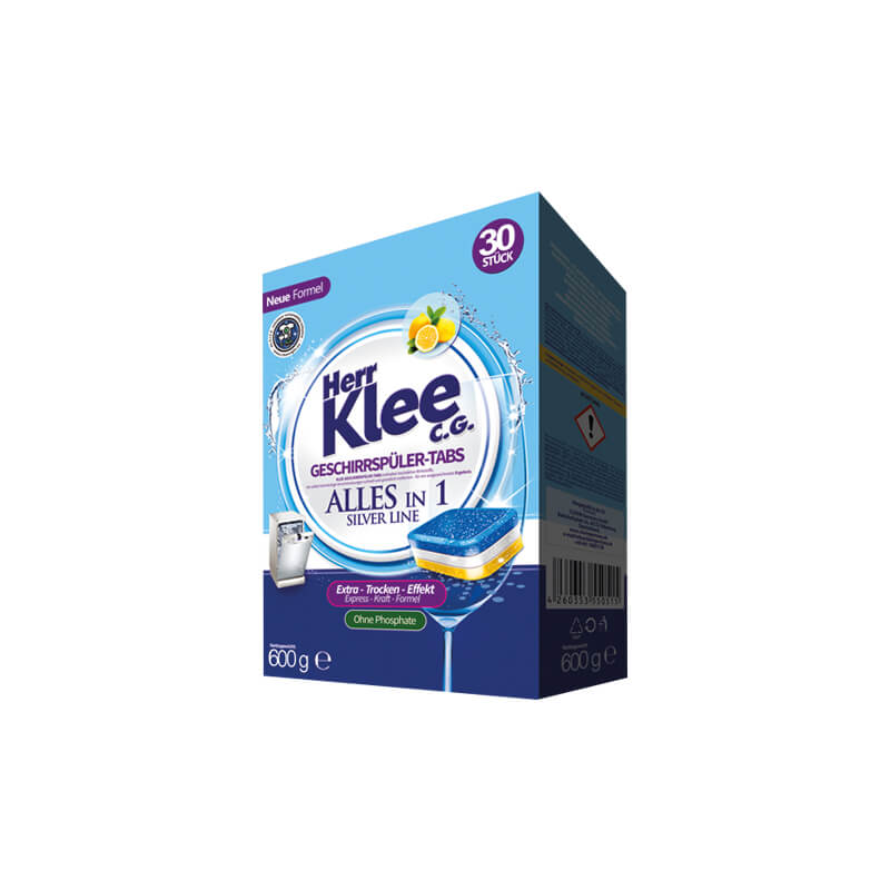 Dishwasher tablets Herr Klee C.G. Silver Line 30 pieces