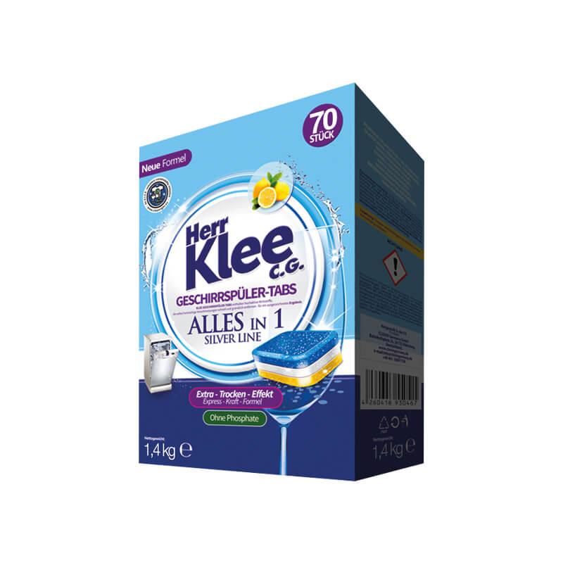 Geschirrspül-Tabs Herr Klee C.G. Silver Line 70 Stück