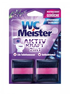 WC Meister colouring blocks for a flushing bowl