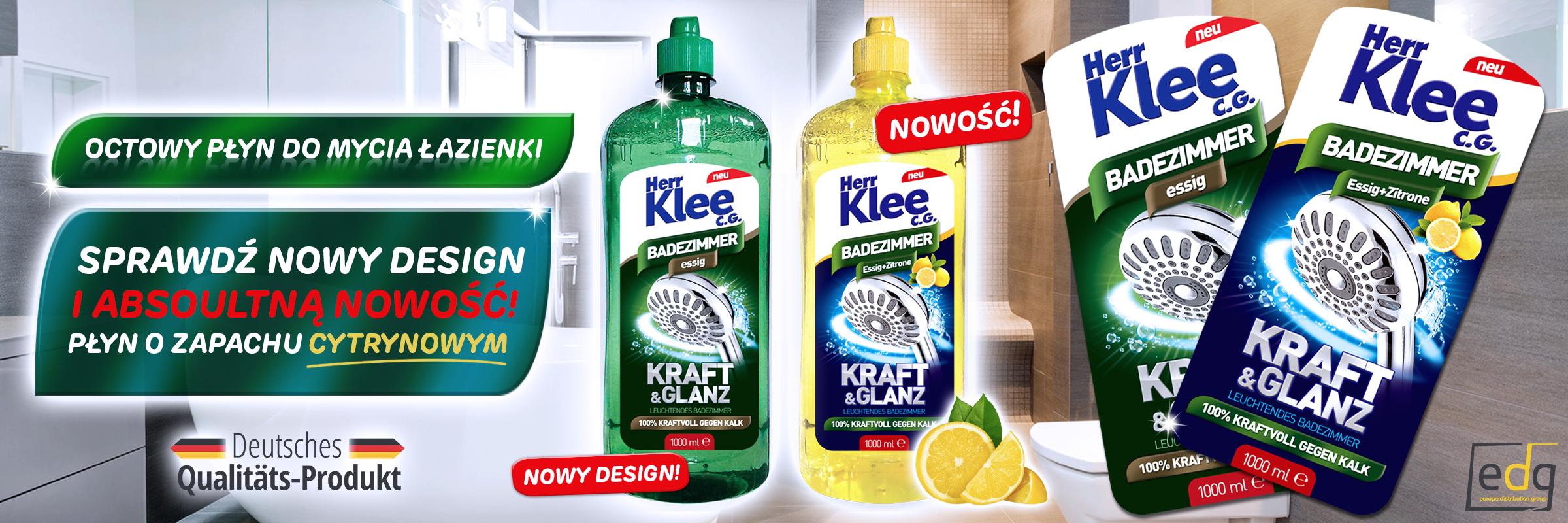 Nowość! Octowy płyn do mycia łazienki Herr Klee C.G. o zapachu cytryny!